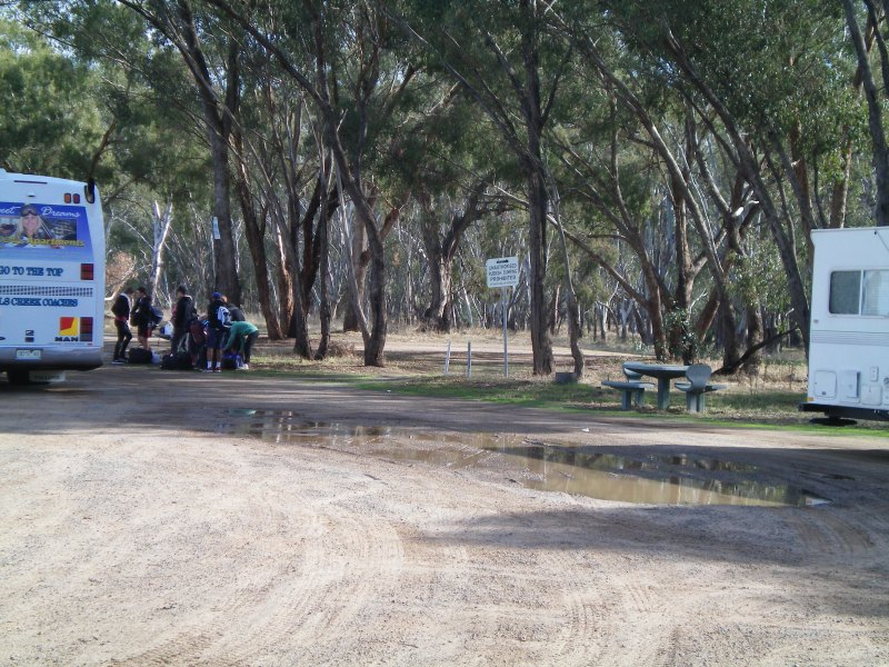 Students on Outdoor Ed Excursion at Bourkes Bridge