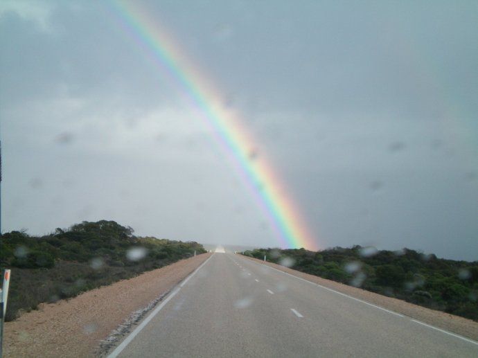 Rainbow on the Nullarbor - Felt Like We Could Touch It