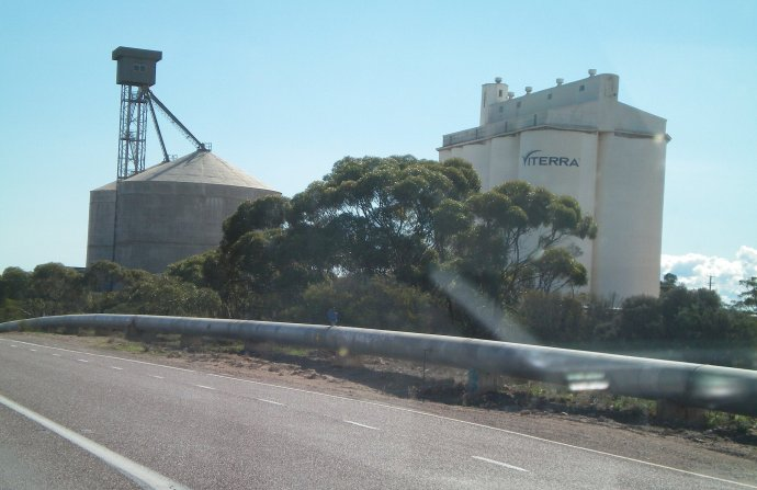 Silos and Water Pipe Along the Way