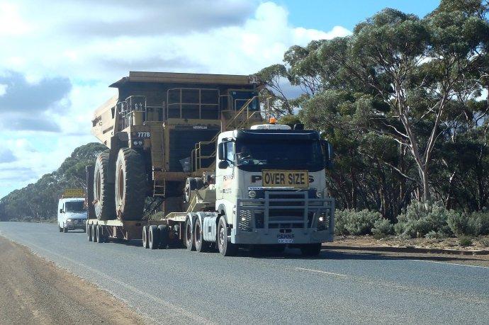 A Big Truck on a Big Truck