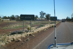Arriving at Mt Magnet