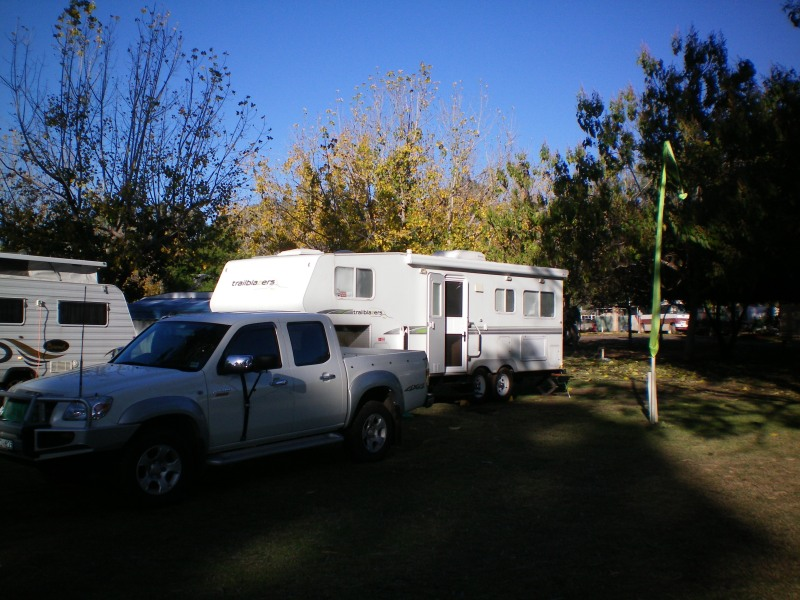 Packing Up in the sun at Buronga