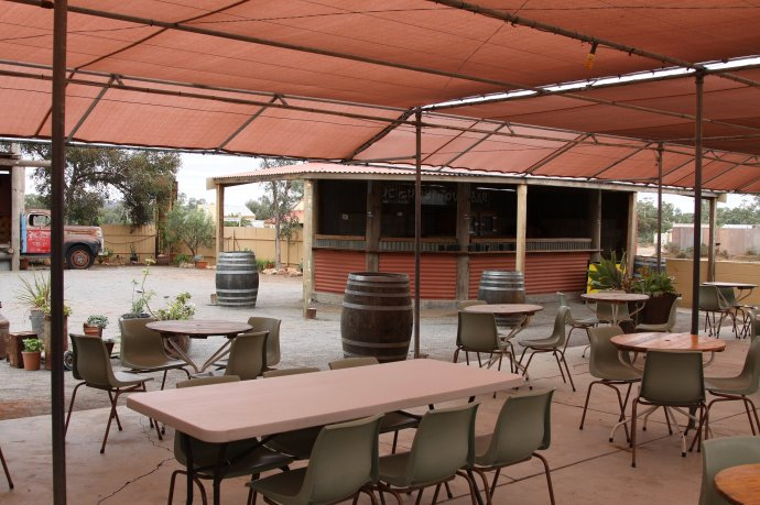 Outdoor bar area at Silverton Hotel