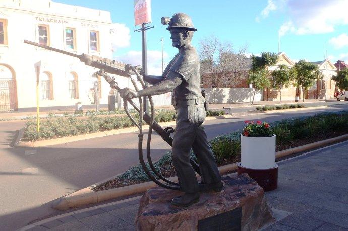 Statue Honouring Miners in Kalgoorlie
