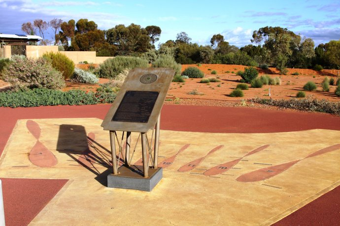 Unique Sundial at Australian Arid Lands Botanical Garden
