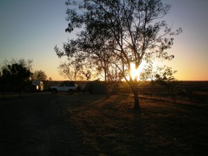 Sunrise at Julia Creek