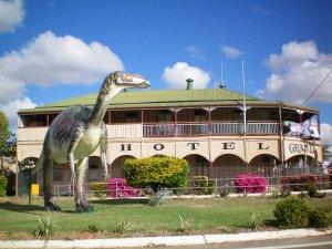Thirsty Dinosaur at Hughenden