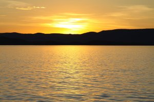 Sunset at Lake Argyle