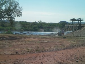 Bridge Works Entering Kununurra