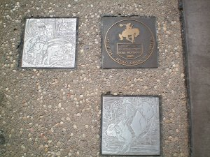 Plaques on Rodeo Drive