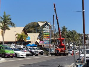 Construction work at Airlie Beach