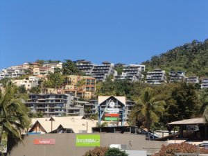 Some of the accommodation at Airlie Beach