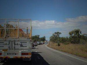 Traffic ahead of us