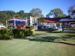 Colourful kids water playground