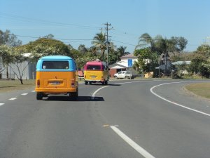 Kute Kombis on the road to Miriam Vale