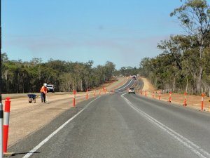 Roadworks on the Bruce Highway