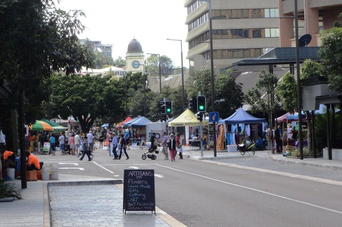 Sunday Market in Flinders Street