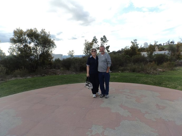 Ann & Shorty Walking on the Moon [sculpture] at Mount Stromlo
