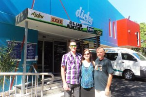 Mick, Katie & Shorty at Dickys Beach Surf Club for Fathers Day