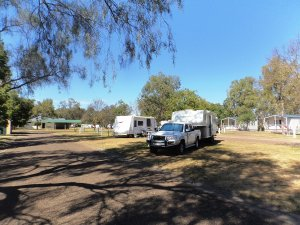 Preparing to Leave Narrabri Big Sky Caravan Park