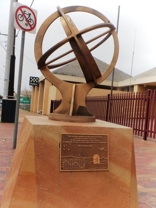 Armillary Sphere Sundial in Coonabarabran