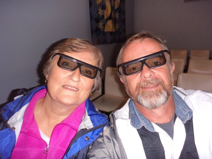 Having Fun in Super Cool 3D Glasses