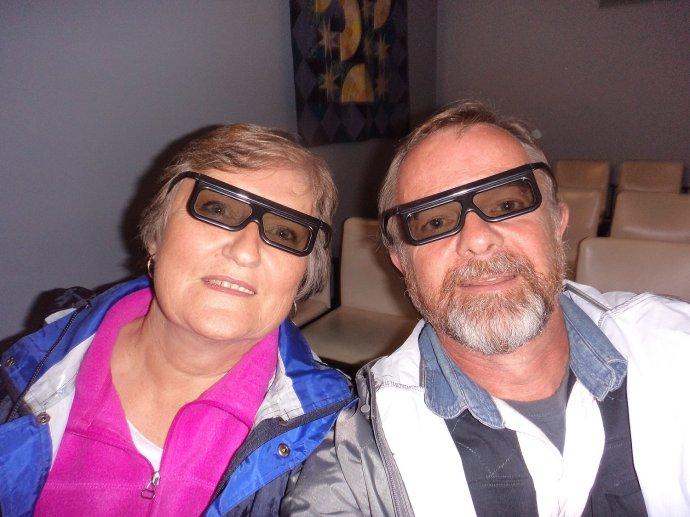 Having Fun in Super Cool 3D Glasses