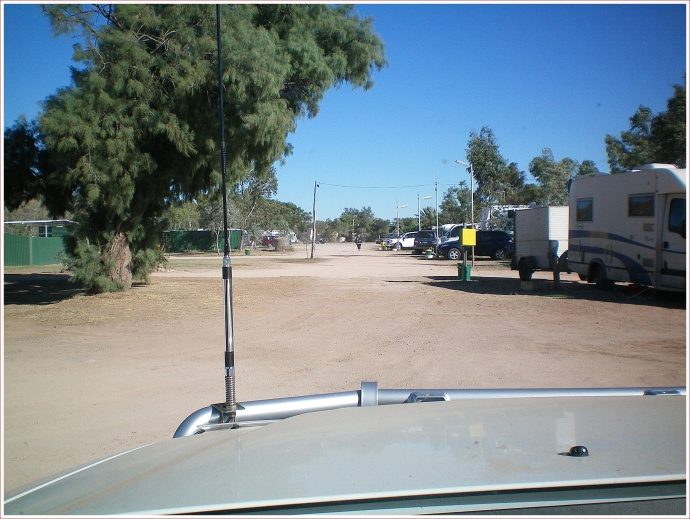 Leaving the Matilda Country Caravan Park