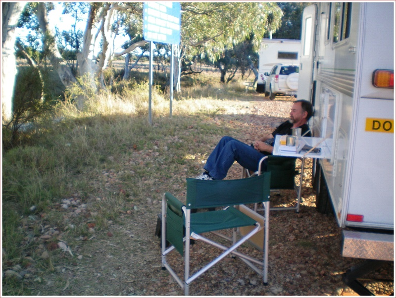 Relaxing at Stubby Bend free camp near Tambo