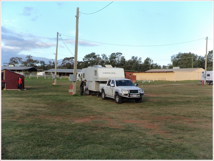 Setting Up at Narrandera Showgrounds