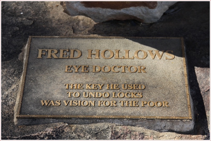 Fred Hollows' Grave at Bourke