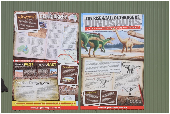 Interesting Stuff at the Age of Dinosaurs Exhibition Centre near Winton