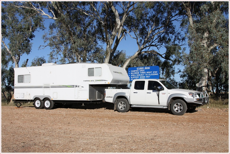 Stopped at Stubby Bend free camp near Tambo