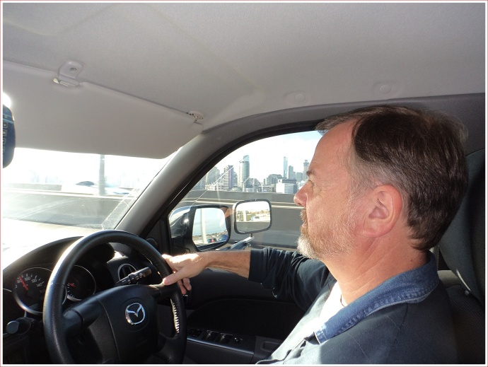 Driving across the Bolte Bridge