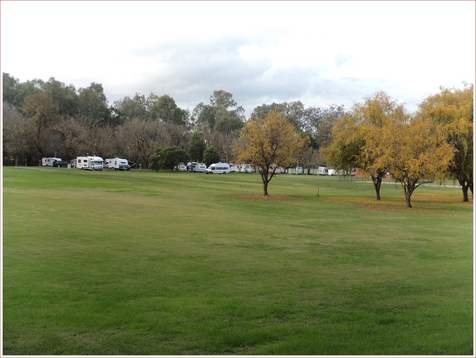 Autumn View of the caravan park