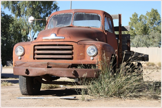 Old Truck Behind the Pub in Winton