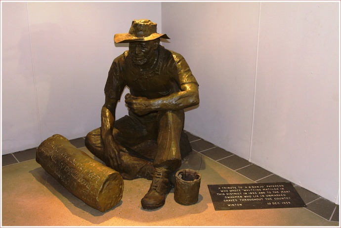 Statue on Display at the Waltzing Matilda Centre