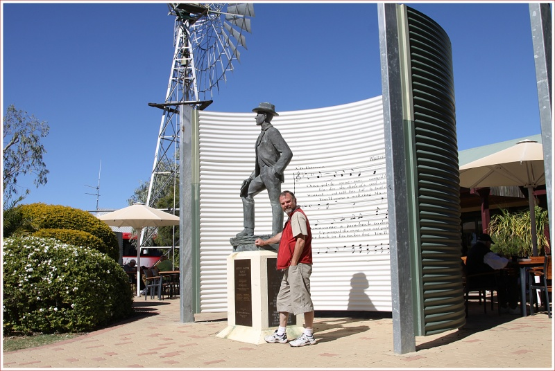 Shorty Outside the Waltzing Matilda Centre