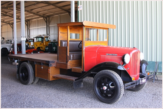 Restored Reo Speed Wagon Truck on Display