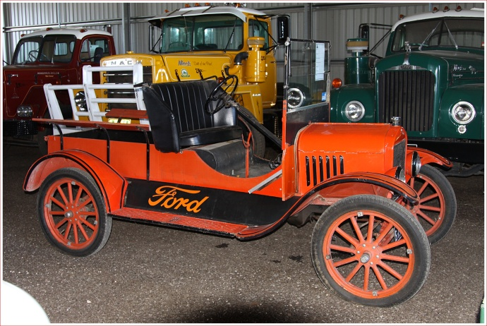 Restored Ford Truck on Display