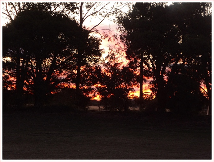 Sunset from the Caravan at Kidman's Camp, Bourke