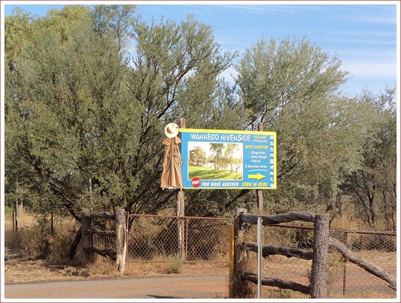 Arriving at Warrego Riverside Tourist Park