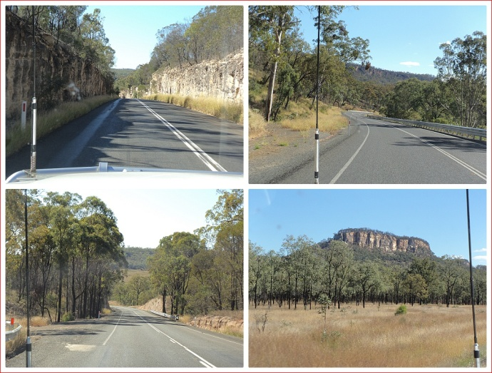 On the road to Carnarvon Gorge
