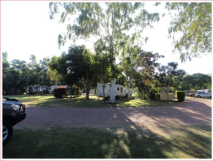 Early Morning View of Caravan Park at Charters Towers