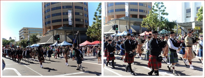 Pipe Band at Sunday Market