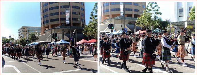 Pipe Band at Sunday Market
