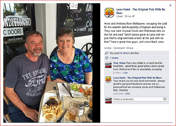 We made it onto the Pub With No Beer's Facebook page!