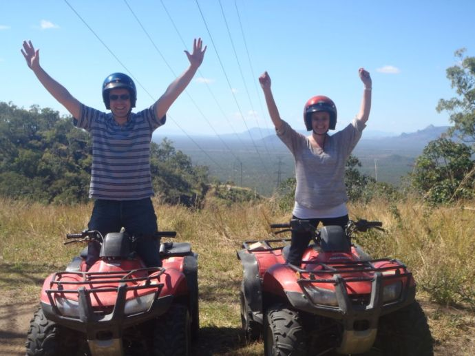 Phil and Tracey obviously had a great time on the quad bikes!