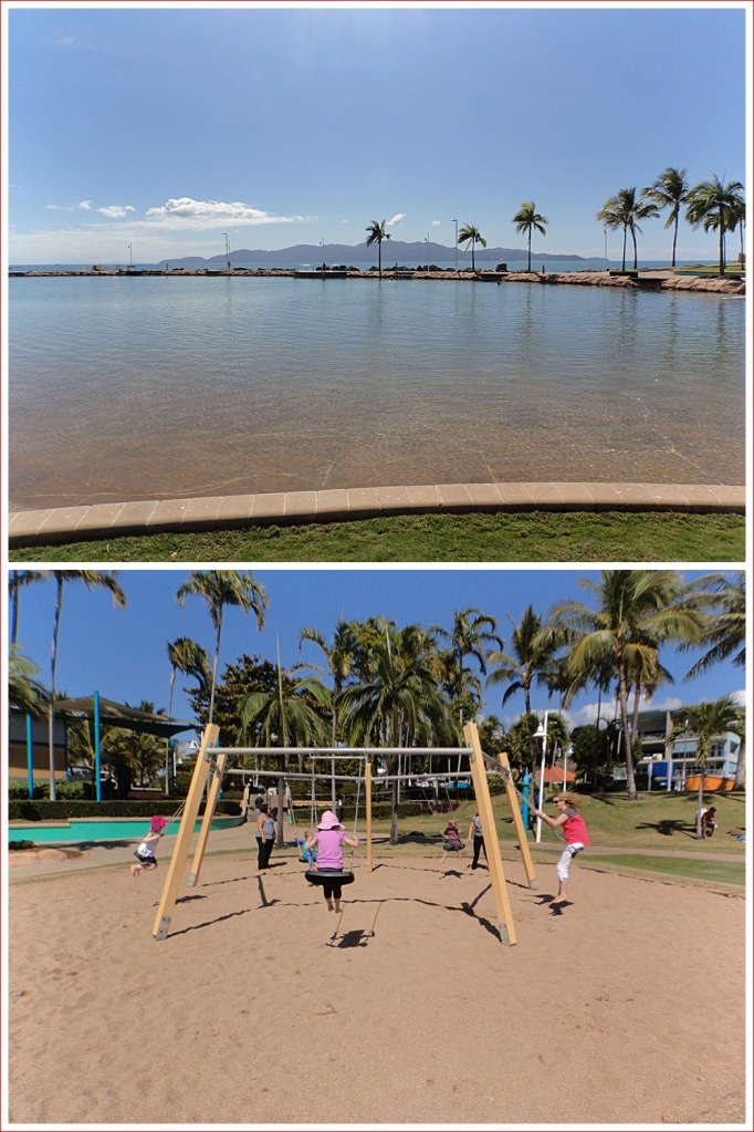 The Rockpool and nearby playground equipment.