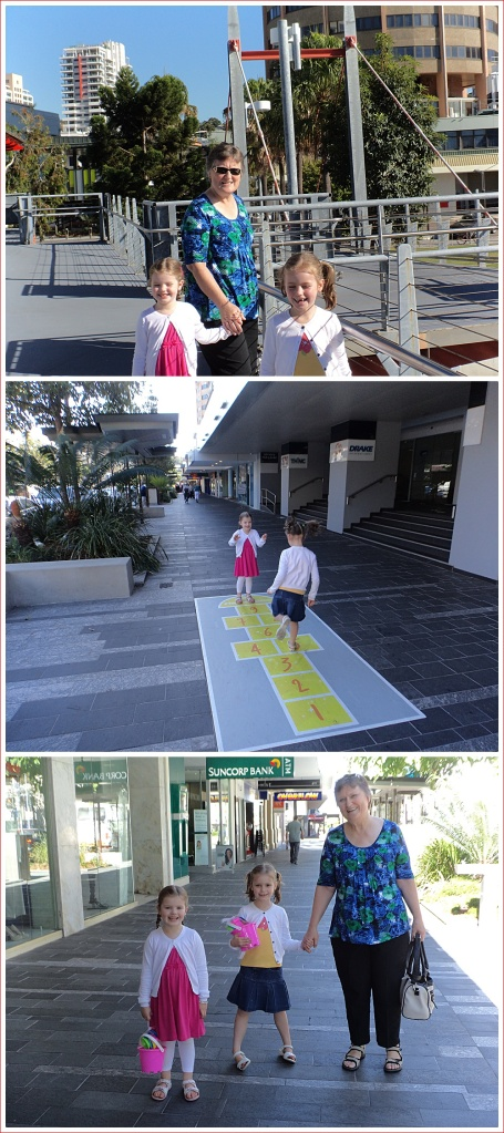 Walking Around Townsville - views from the bridge, hopscotch and buckets and spades